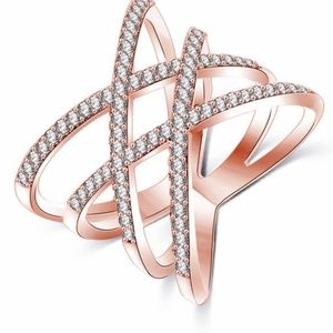 New Gorgeous Rose Gold fashion ring